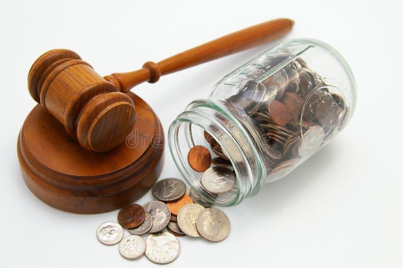 Costos legales imagen de archivo