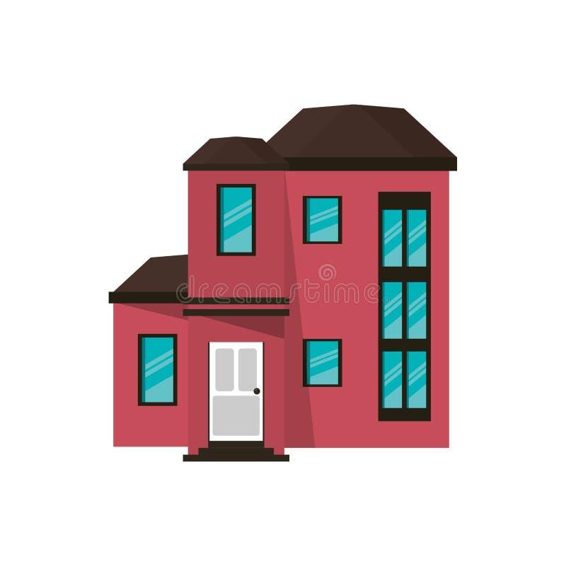 Costoso urbano de la casa de la historieta ilustración del vector