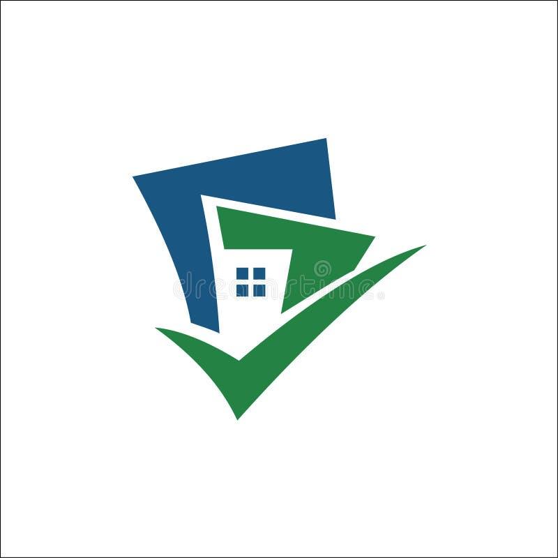 Costruendo con il vettore di logo del segno di spunta royalty illustrazione gratis