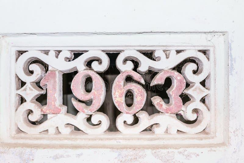 Costruito nel 1963 immagini stock
