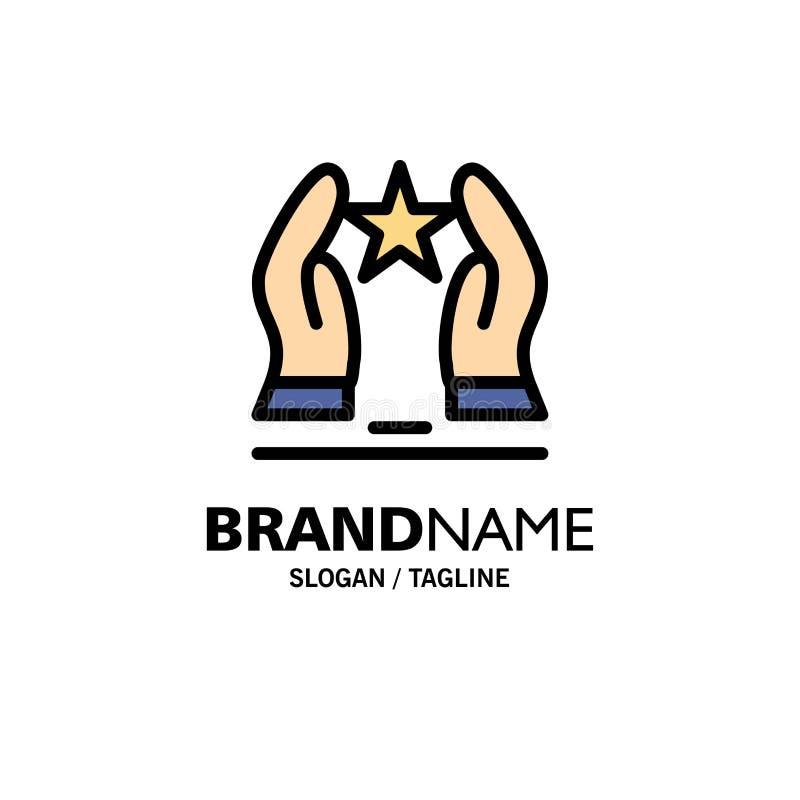 Costruito, preoccupi, motivi, motivazione, l'affare Logo Template della stella colore piano royalty illustrazione gratis