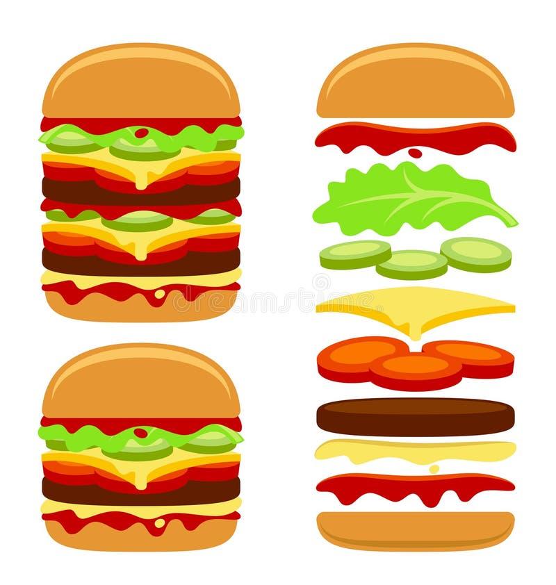 Costruttore dell'hamburger illustrazione di stock