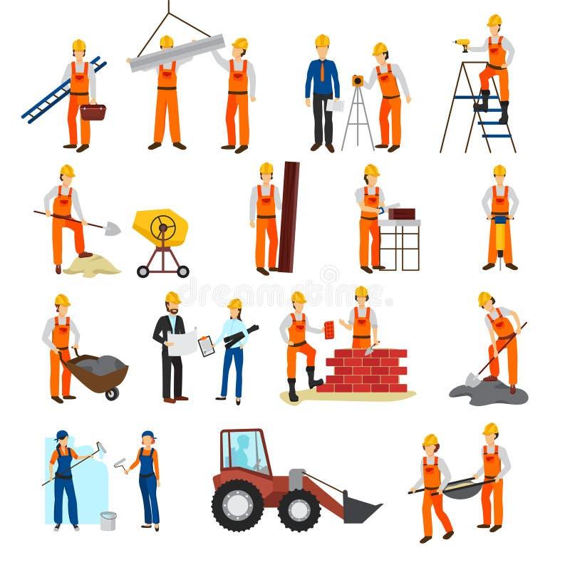 Costruttore Set della costruzione di riparazioni illustrazione vettoriale