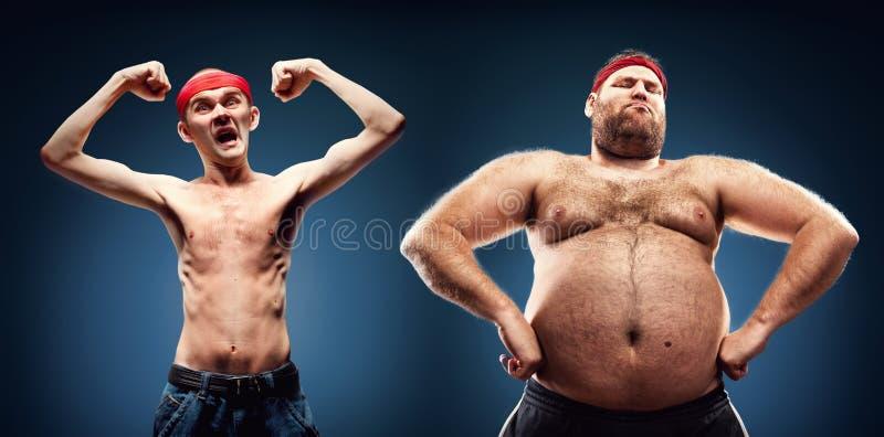 Costruttori di corpo divertenti immagini stock libere da diritti