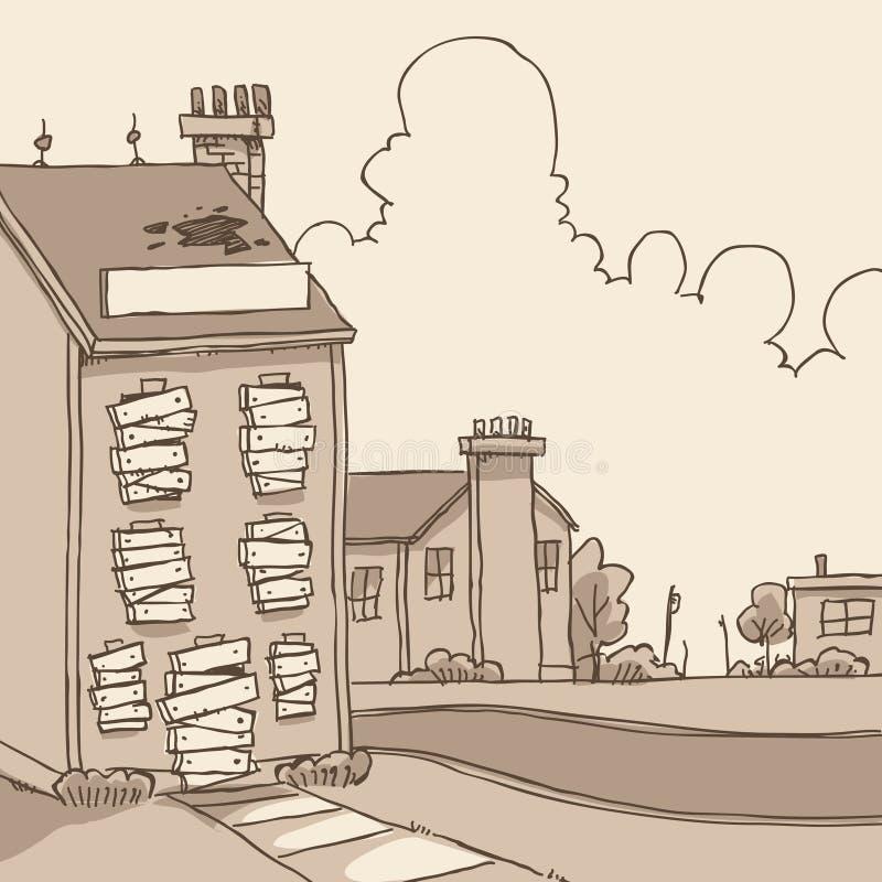 Costruzione abbandonata royalty illustrazione gratis