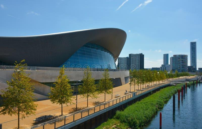 Costruzione acquatica olimpica di Londra fotografia stock