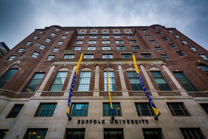 Costruzione all'università della Suffolk, in Beacon Hill, Boston, Massachu immagini stock libere da diritti