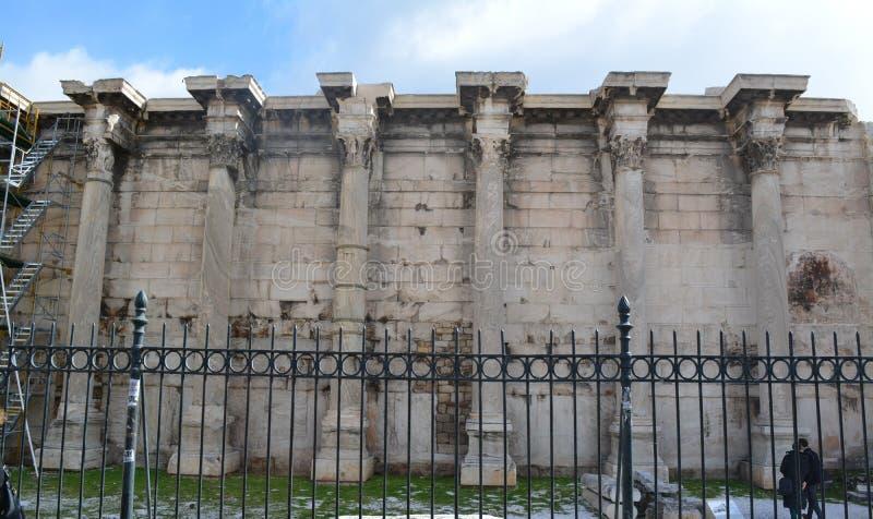 Costruzione antica come museo a Atene fotografia stock libera da diritti