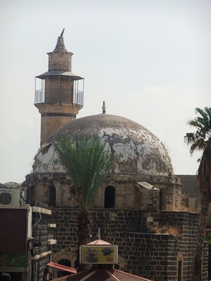 Costruzione antica a Tiberiade immagine stock