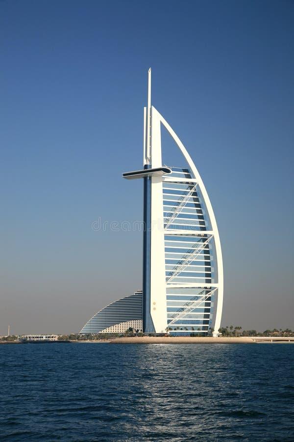 Costruzione araba dell'hotel di Burj fotografie stock libere da diritti