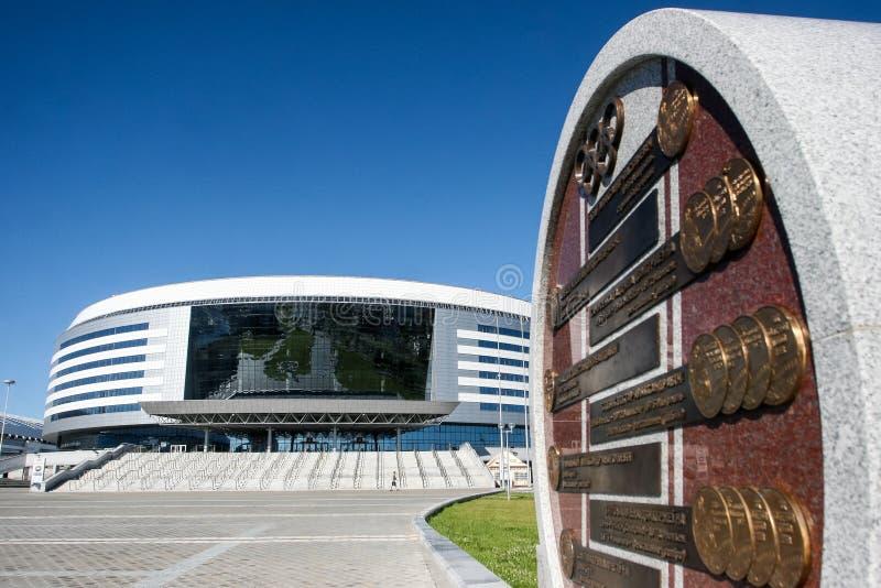 costruzione blu della Bielorussia dell'arena di architettura dell'Minsk-arena immagine stock