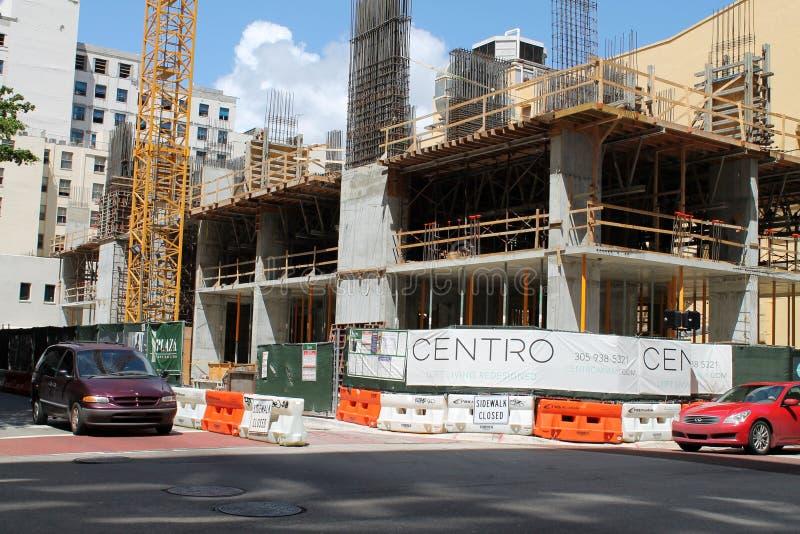 Costruzione in Brickell Miam fotografia stock