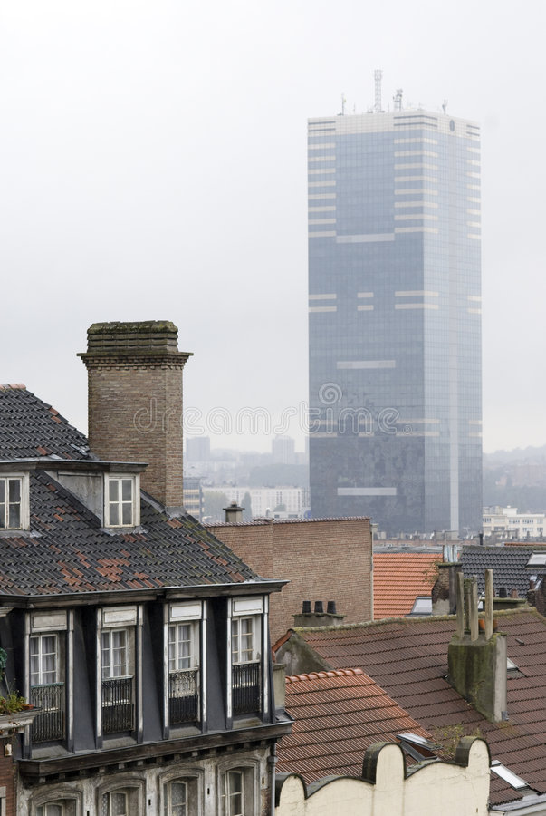 Costruzione a Bruxelles fotografie stock