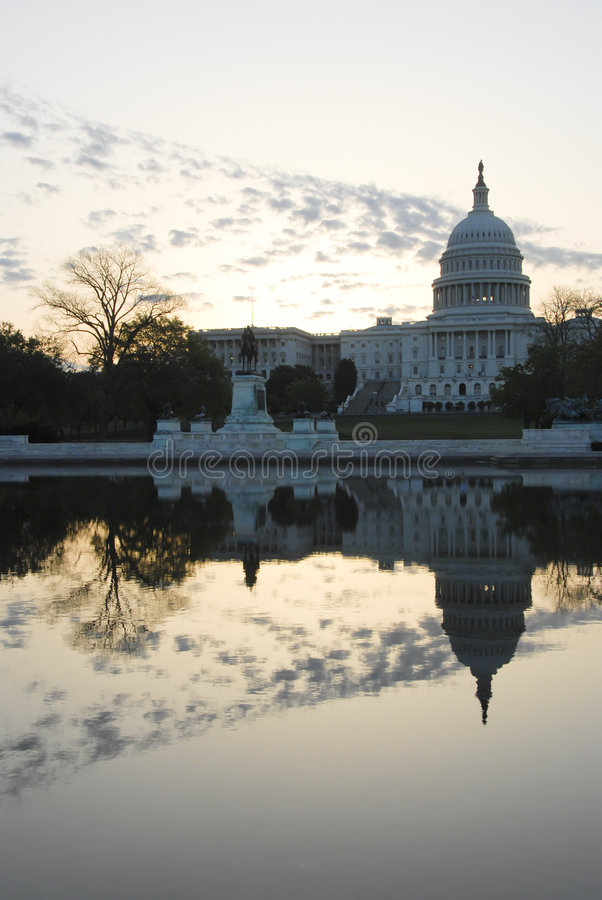 Costruzione capitale degli Stati Uniti fotografie stock libere da diritti