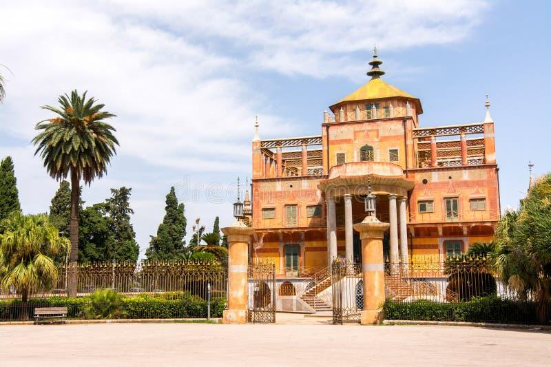 Costruzione cinese a Palermo, Sicilia, immagini stock libere da diritti