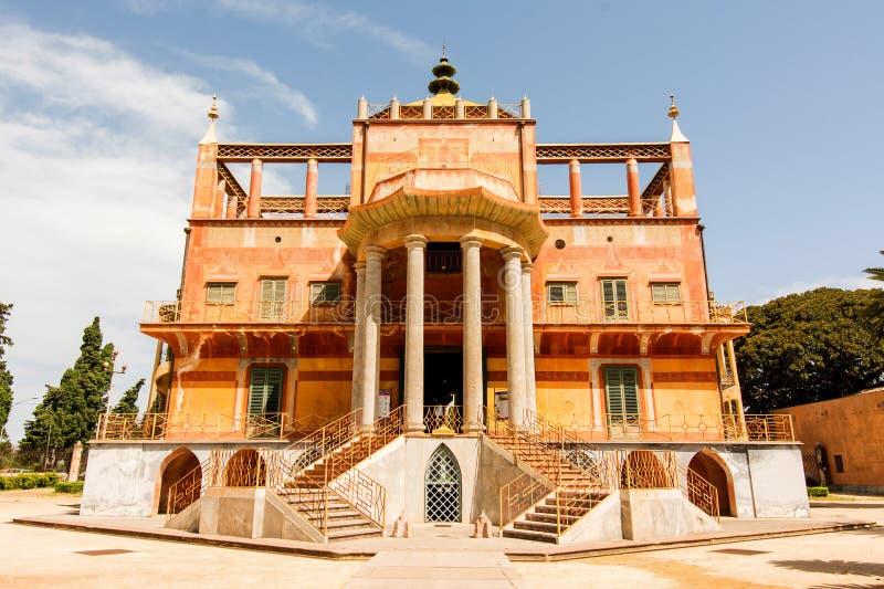 Costruzione cinese a Palermo, Sicilia, immagini stock