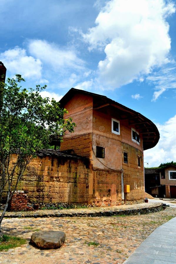 Costruzione circolare antica cinese fotografia stock libera da diritti
