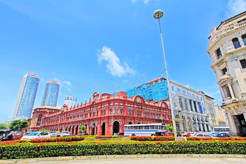 Costruzione coloniale e World Trade Center, Sri Lanka Colombo immagine stock libera da diritti