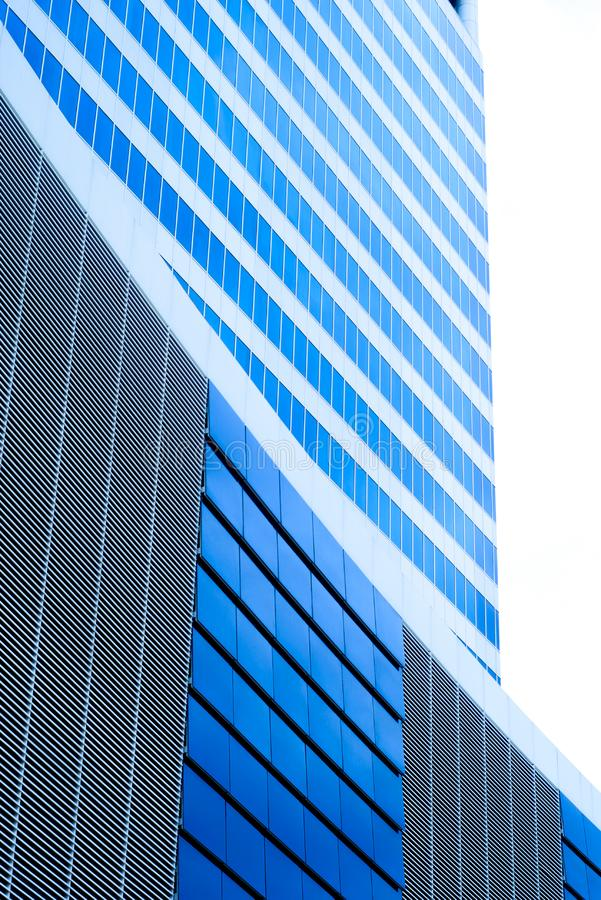 Costruzione corporativa blu fotografie stock