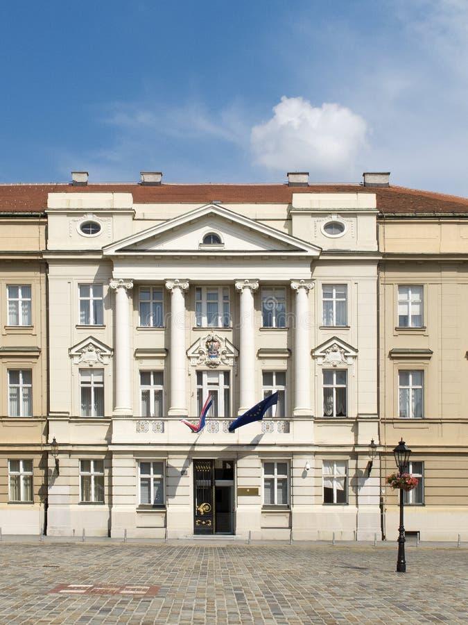Costruzione croata del Parlamento fotografia stock