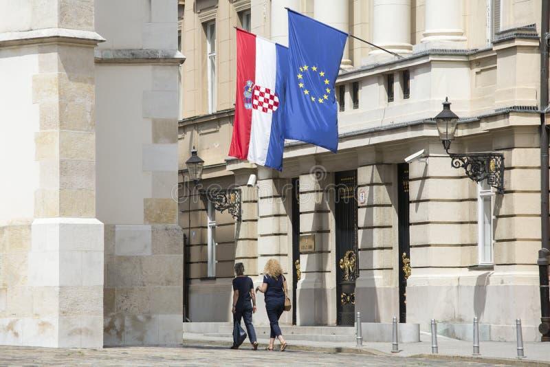 Costruzione croata del Parlamento immagini stock