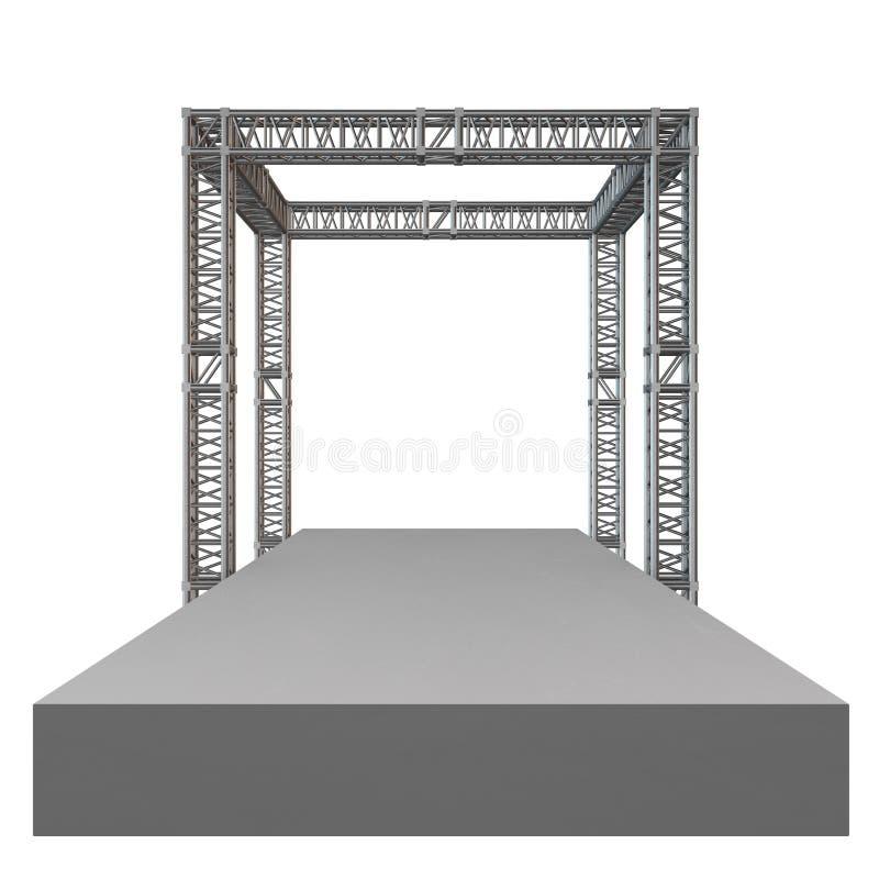 Costruzione d'acciaio del tetto della trave della capriata royalty illustrazione gratis