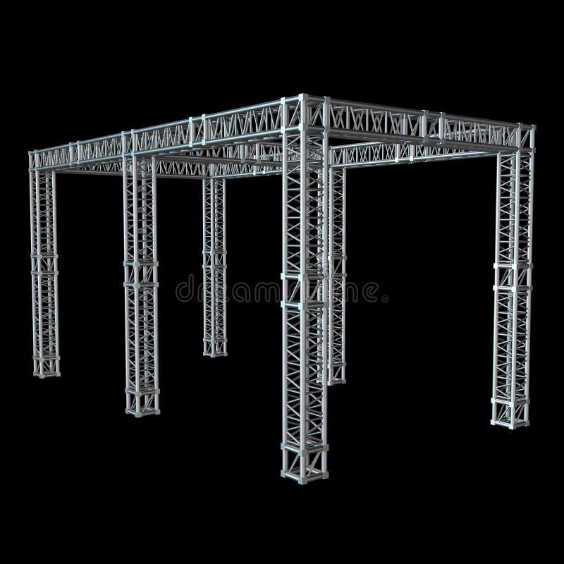 Costruzione d'acciaio del tetto della trave della capriata illustrazione vettoriale
