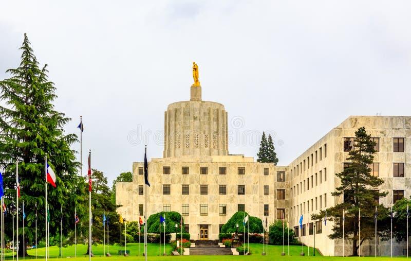 Costruzione del Campidoglio dello stato dell'Oregon fotografia stock libera da diritti