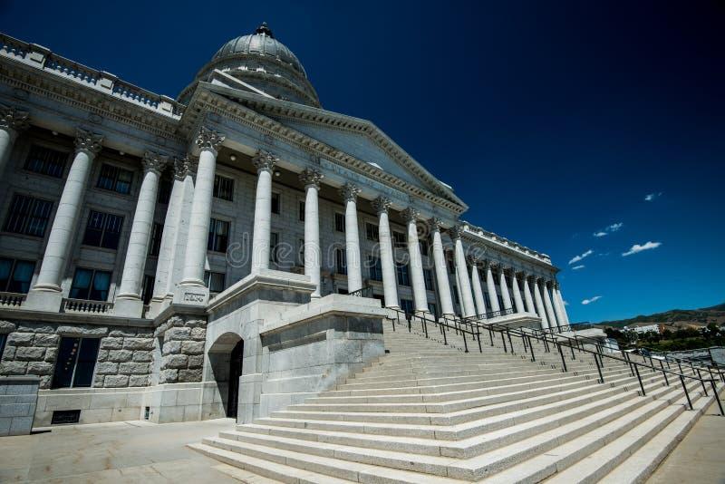 Costruzione del Campidoglio dello stato dell'Utah a Salt Lake City, UT immagini stock libere da diritti