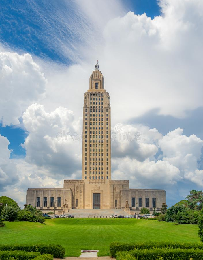 Costruzione del Campidoglio dello stato della Luisiana del ritratto immagine stock