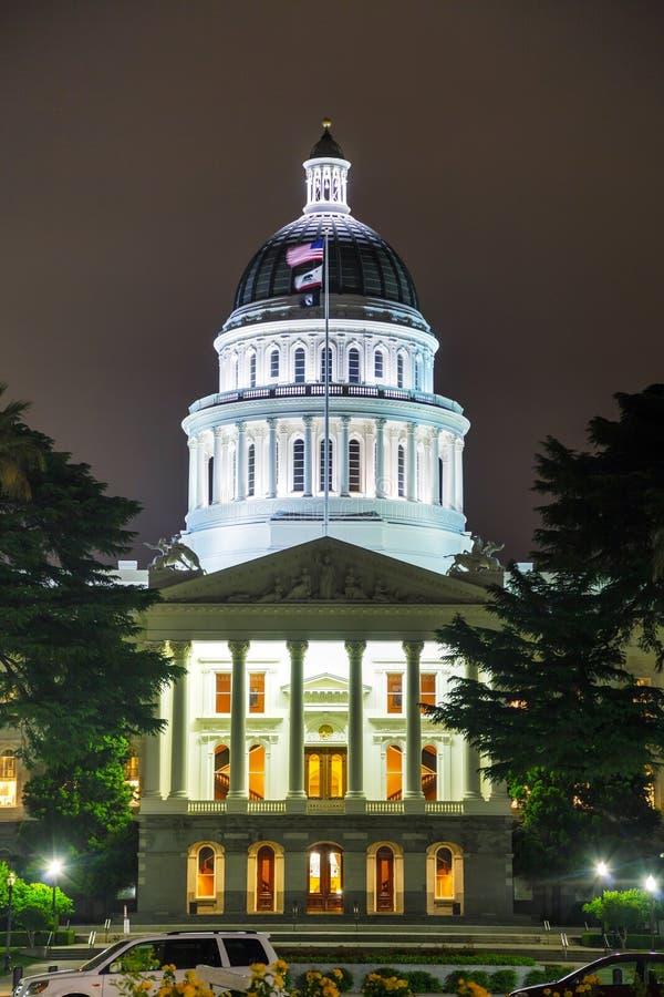 Costruzione del Campidoglio dello stato di California a Sacramento fotografia stock libera da diritti