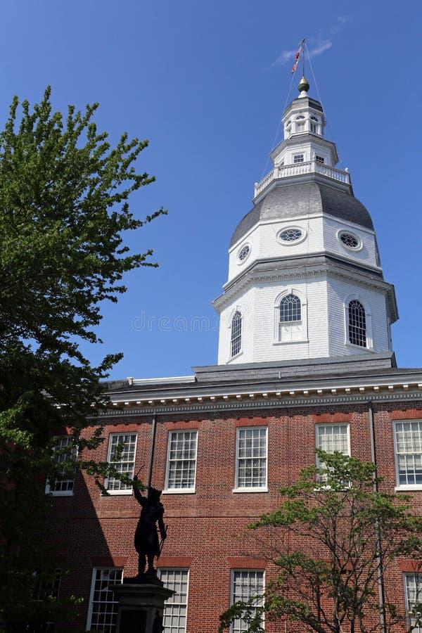 Costruzione del Campidoglio dello stato di Maryland a Annapolis fotografie stock libere da diritti