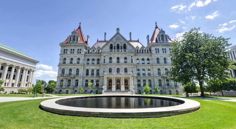 Costruzione del Campidoglio dello Stato di New York, Albany immagine stock libera da diritti