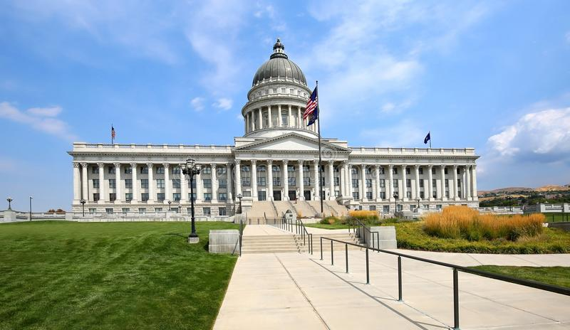 Costruzione del Campidoglio dello stato a Salt Lake City, Utah, U.S.A. fotografia stock