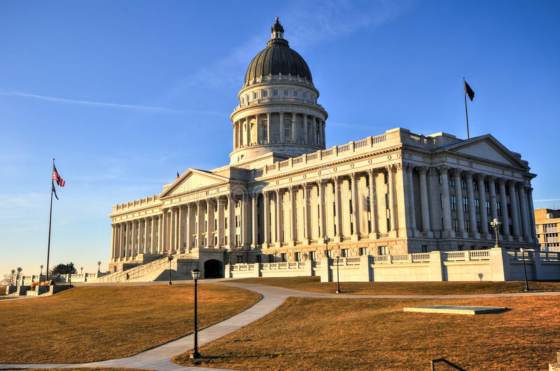 Costruzione del Campidoglio dello stato, Utah fotografia stock libera da diritti