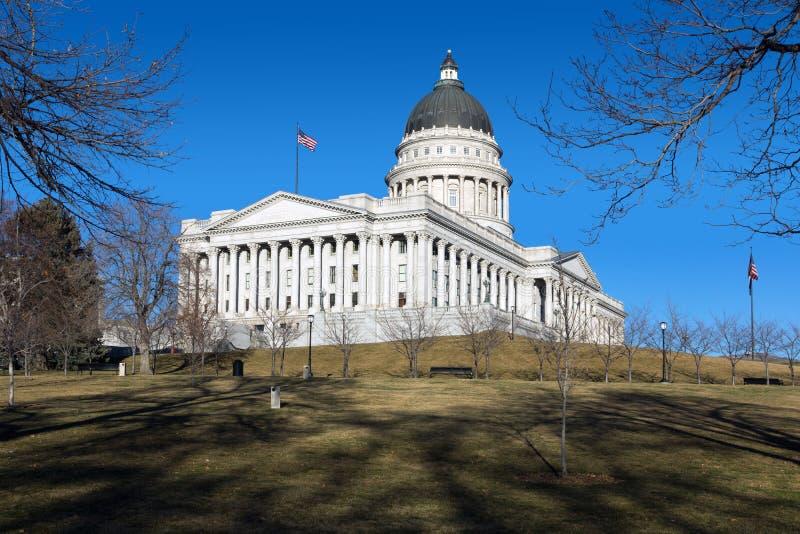 Costruzione del Campidoglio a Salt Lake City, Utah, Stati Uniti immagini stock libere da diritti