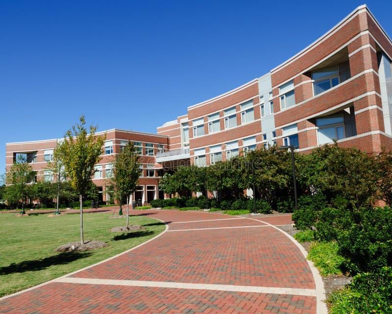 Costruzione del campus universitario fotografia stock