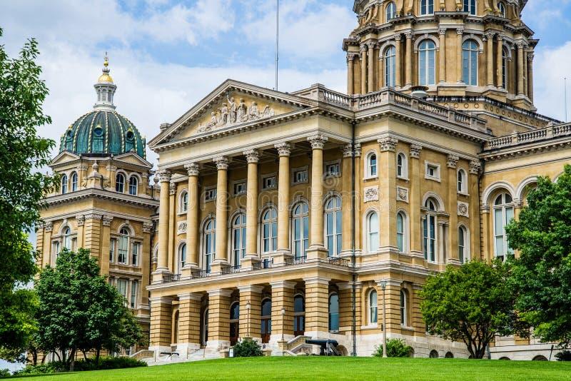 Costruzione del capitale dello Stato dello Iowa fotografia stock