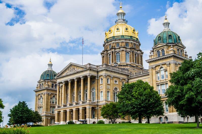 Costruzione del capitale dello Stato dello Iowa fotografia stock libera da diritti