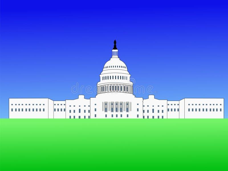 Costruzione del capitol degli Stati Uniti illustrazione vettoriale