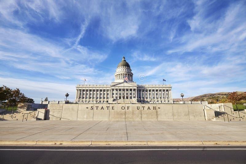 Costruzione del capitol dello stato dell'Utah a Salt Lake City, U.S.A. fotografie stock libere da diritti