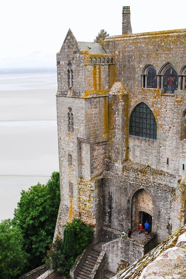 Costruzione del castello dell'abbazia del ` s di St Michael immagine stock libera da diritti