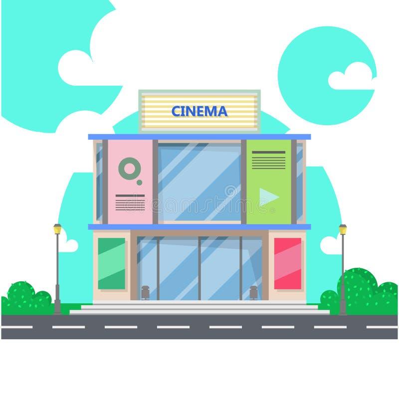Costruzione del cinema Cinema immagini stock