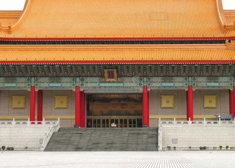 Costruzione del cinese tradizionale a Taipeh fotografia stock