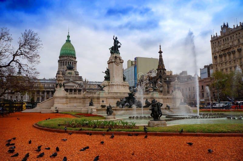 Costruzione del congresso a Buenos Aires fotografia stock