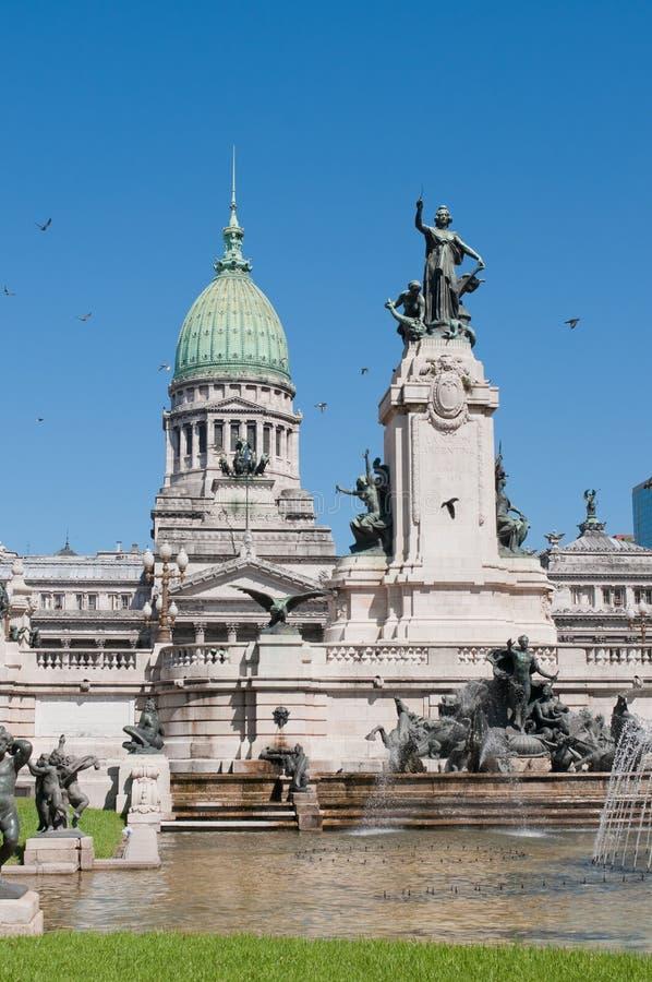 Costruzione del congresso nazionale, Buenos Aires immagini stock