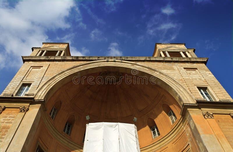 Costruzione del cortile del museo di Vatican fotografia stock libera da diritti