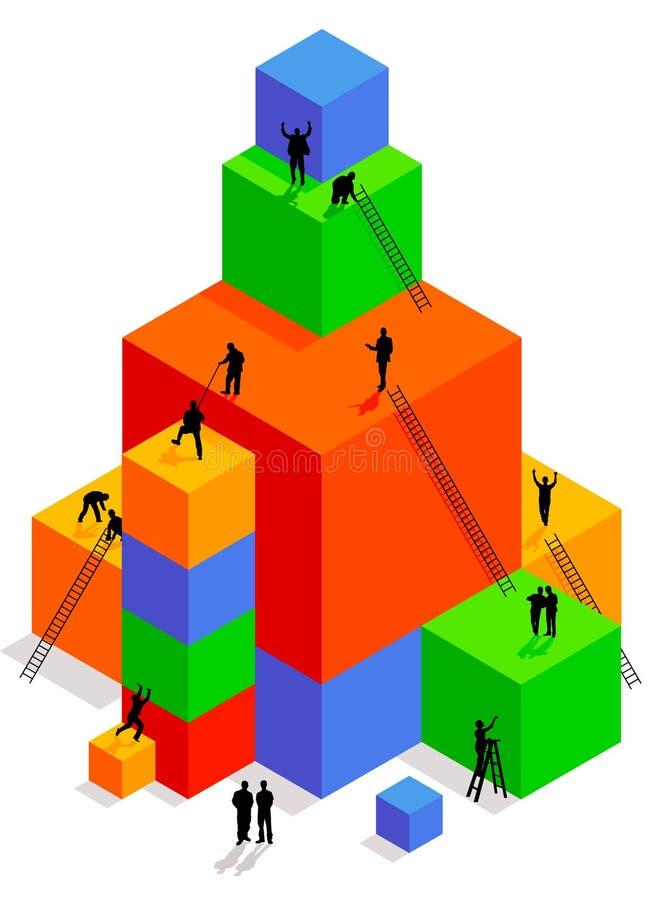 Costruzione del cubo illustrazione di stock