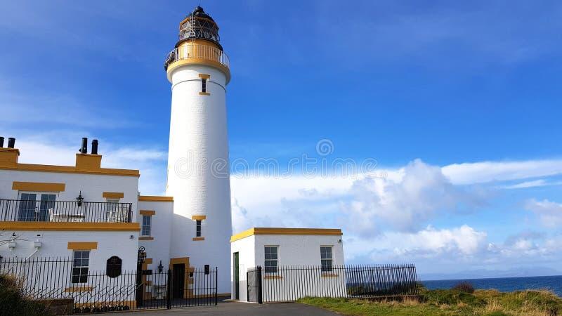 Costruzione del faro a Trump Turnberry in Scozia fotografia stock libera da diritti