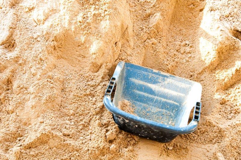Costruzione del materiale della sabbia fotografia stock libera da diritti